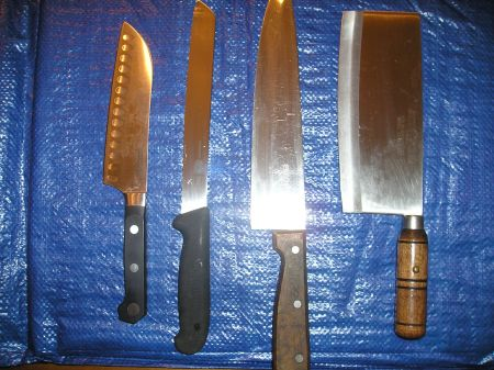 Large kitchen knives