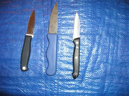 Small kitchen knives